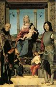Francesco Marmitta The Virgin and Child with Saints Benedict and Quentin and Two Angels (mk05) oil painting